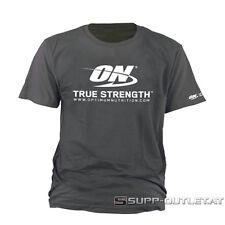 Optimum Nutrition-T-Shirt ON True Strength Muskelshirt, Bodybuilding Top Fitness