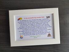 Personalised Framed Poem End term leaving Thank You Gift nursery school teacher