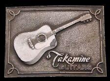 NB24176 VINTAGE 1970s ***TAKAMINE GUITARS*** LTD EDITION SILVERTONE MUSIC BUCKLE