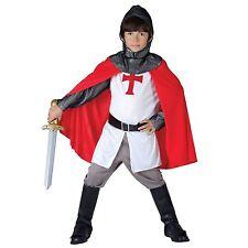 Niños Disfraz de Caballero Cruzado St George Medieval Inglés Libro 4-12yrs AÑOS