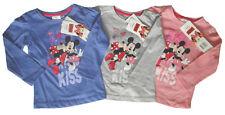 Disney Minnie Maus Langarmshirt süßes Motiv Mädchen Kiss Mouse Gr. 98 - 128