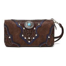 Western Stye Handbag Purse for Women Faux Leather Smartphone Wristlet Wallet