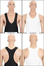 Herren Boxerhemd oder Stringer Top hauteng elastisch stretch shiny glänzend