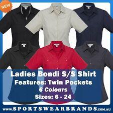Ladies Bondi Short Sleeve Shirt Pocket Business Casual Office Work Hotel S306LS