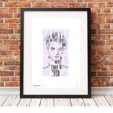 MY CHEMICAL ROMANCE ❤ Gerard Way ❤ MCR lyrics poster art print in 5 sizes #1