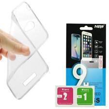 Schutzhülle Tasche Silikon 0,3mm dünne Slim Case + Schutzglas Echt Glas Schutz