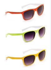 Mens damas Divertido Vintage Festival Gafas de Sol Retro Vintage Naranja Amarillo Verde