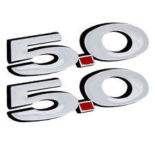 2011 2012 2013 2014 FORD MUSTANG GT 5.0 CHROME FENDER EMBLEMS -- 1 PAIR!!!
