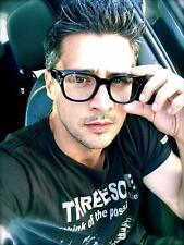 Vintage Retro Clear Lenses Big Thick Square Frame Eyeglasses Men Women Eyewear