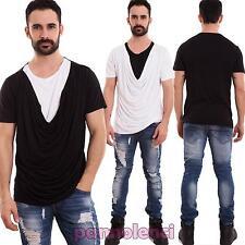 Maglia uomo maglietta t-shirt mezze maniche scollo morbido casual nuova TT831
