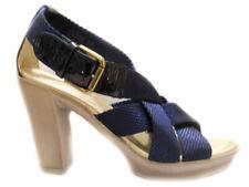 Janet sport 25902 blu sandali da donna in tessuto
