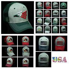 Trucker Hat Baseball Cap USA Flag / Hecho En Mexico / Rooster Snapback Mesh Cap