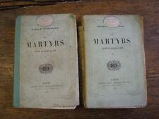 Les martyrs Chateaubriand 2 TOMES  gravures sur acier