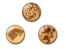 GAME OF THRONES 25mm button badge / magnet Stark, Targaryen, Lannister Season 5