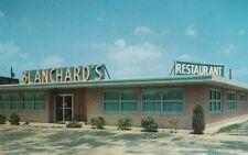 Vintage POSTCARD c1958 Blanchard's Restaurant near LUMBERTON, NC