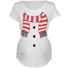 Snowman Suit Costume White Maternity Soft T-Shirt