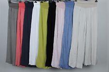 Nuevo Jersey Elástico en la cintura en Capas Italiano Dobladillo Burbuja Pantalones Palazzo