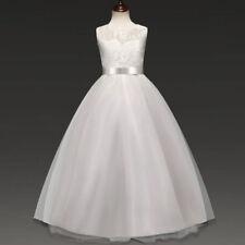2018 Girls Wedding Dress Floral Bridesmaid Party Evening Formal sleeveless O77