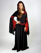 Mittelalter Kleid lange Kapuze Trompetenärmel Mittelalterkleid Prinzessin Kleid