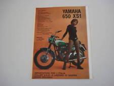 advertising Pubblicità 1971 MOTO YAMAHA 650 XS1