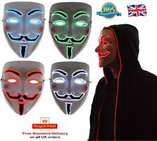LED Halloween Mask Vendetta Light Up ANONYMOUS MASK Guy Fawkes Mask LED MASK