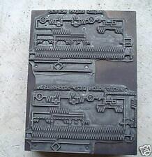 Old Engineering Metal Printer Block Westinghouse #6