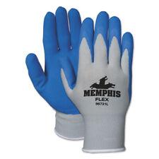 Memphis Latex Work Gloves/ Safety Gloves/ Motor Sports Gloves-Blue~Choose Size~