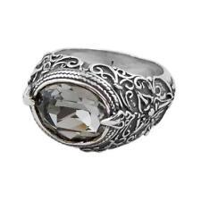 D175 - Sterling Silver & Swarovski Medieval Cocktail Ring