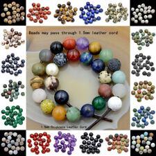 Big hole (2mm)Wholesale Lot 10mm Natural Gemstone Round Loose Beads 20pcs