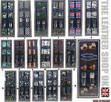 35mm Mens Great Lovely Printed Patterns Heavy Duty Suspender Adjustable Braces