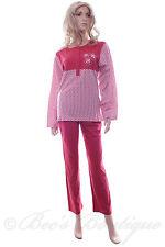 Ladies Cotton Waites Lingerie Terracotta Red Pyjamas Size S M L XL Pajamas 2061