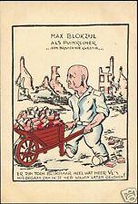 WWII Caricature Dutch Jewish Collaborator Max Blokzijl