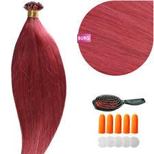 Keratin Bonding (# Burg) Hair Extensions 100% Remy Echthaar Haarverlängerung