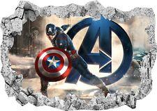 Kids Stickers Paper torn Captain America Avengers Ref 7649