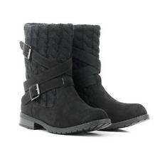 Neuf Confortable Femmes Cuir Suédé Noir Montana Bottes Georgie Porgy Chaussures