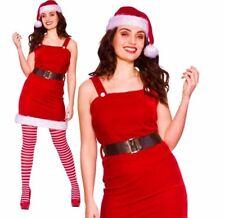 Ladies Santa Baby BABBO Natale Aiutante Costume Adulto Costume velluto pelliccia
