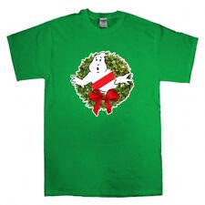 Ghostbusters Wreath Merry Christmas Xmas Ugly Sweater T-shirt  S-XXXXXL