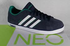 Adidas Schnürschuhe Sneakers Sportschuhe Halbschuhe DERBY VULC Leder blau NEU