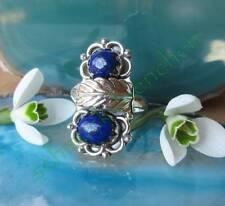 Ring Silber 925 Lapislazuli blau Stein der Freundschaft Feder Indianerschmuck