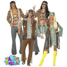 Adult 1960s Twiggy Fringed Top Hippy Woodstock Ladies Fancy Dress 70s Hippie