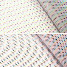 Polycotton Fabric 2mm Polka Dots Rainbow Coloured Sensational Spots