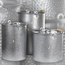 seau en métal aux Pellets zingué martelées à cendres cheminée design industriel