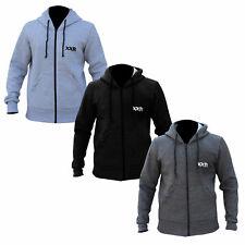 XXR Zipped Fleece Hoodies Top Hooded Sweat Shirt Gym Clothing Running (S-2XL)