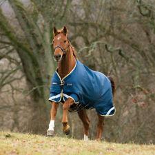 Horseware Rambo Original Turnout Lite 100g - denim blue/tan-lime green & mustard