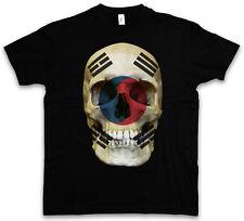 Classic south Corée skull Flag t-shirt-tete de mort crâne Bannière Drapeau Corée du sud