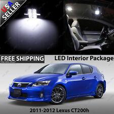 Lexus CT200h 4 Door Hatchback White 12V LED SMD Full Interior Light Bulb Package