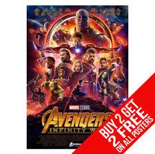 THE AVENGERS INFINITY WAR poster Hulk Iron Man Captain America Spiderman A4/A3