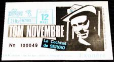 TOM NOVEMBRE : billet ticket concert FRANCE Beziers 12/03/1988