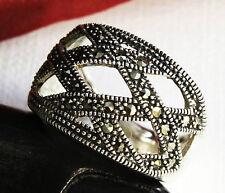 Echter 925 Silber Damen Ring mit  Markasit, SEHR EDEL !!!