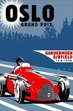 VINTAGE 1950/'s MERCEDES BENZ W196 FORMULA ONE RACE CAR POSTER PRINT 20x36 9MIL